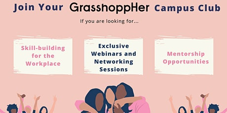 Become a Grassbassador or Join a GrasshoppHer Campus Club Info Session tickets