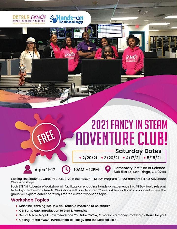 Fancy in STEAM Adventure Club image
