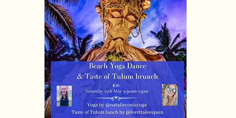 Beach yoga & Taste of Tulum brunch at Sonora Beach entradas