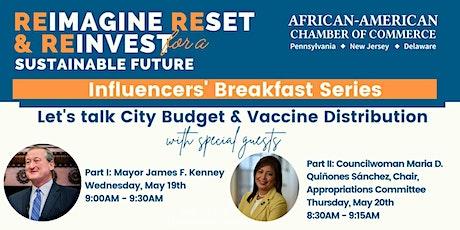 Influencers' Breakfast: Mayor Kenney & Councilwoman Quiñones Sánchez Tickets