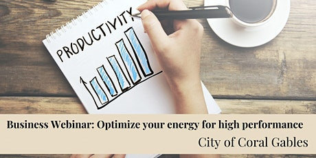 Optimize Your Energy for High Performance tickets