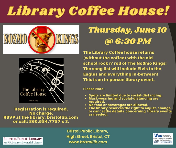 NoSmo Kings @ The Library Coffee House image