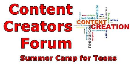Content Creators Forum Teen Summer Camp tickets