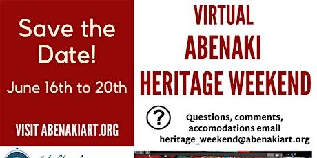 Virtual Abenaki Heritage Weekend tickets