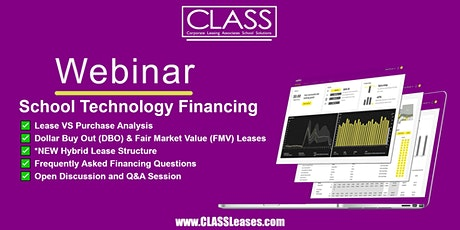 Webinar: Understanding School Technology Financing tickets
