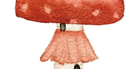Painting Whimsical Mushroom Houses in Watercolor Workshop tickets
