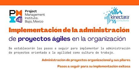 Taller: Implementación de Proyectos Ágiles en la Organización boletos
