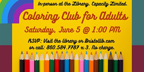 Coloring Club for Adults tickets