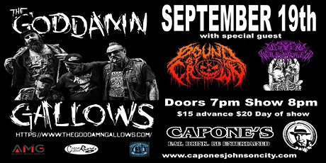 The Goddamn Gallows live at Capone's Johnson City tickets