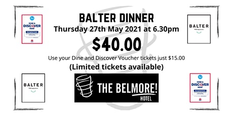 Balter Dinner tickets