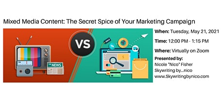 Mixed Media Content: The Secret Spice of Your Marketing tickets