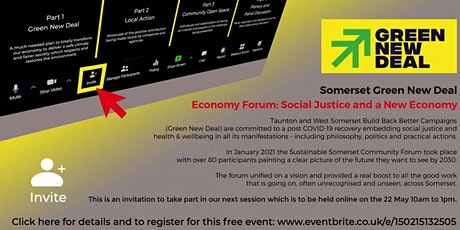 Somerset Green New Deal Forum - Social Justice and a New Economy biglietti
