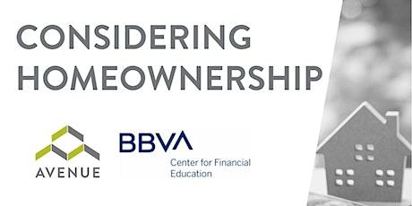 FREE Financial Webinar: Considering Homeownership tickets