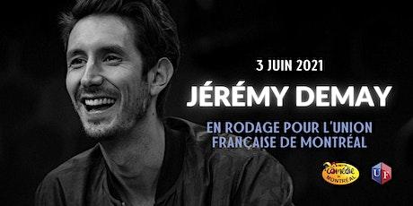 Jérémy Demay en rodage pour l'Union Française de Montréal billets