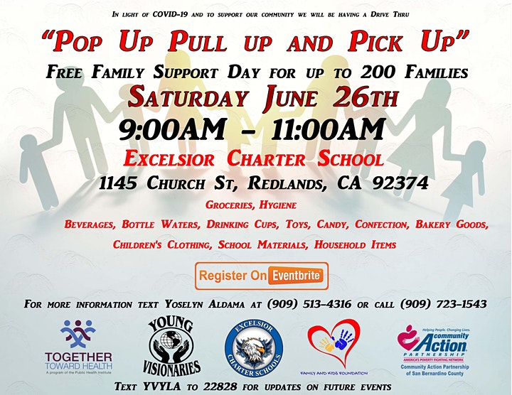 Excelsior Charter Schools Redlands Pull Up and Pick Up Family Support Day image