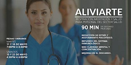 Taller gratuito Aliviarte para Personal del sector Salud entradas