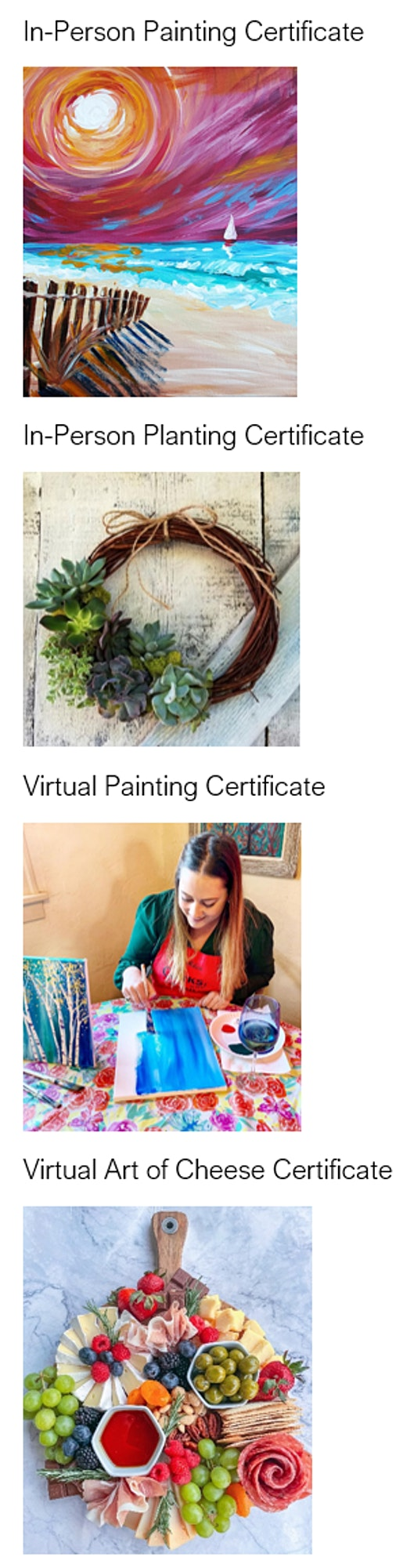 Corks and Canvas Event Gift Certificates 2021 image