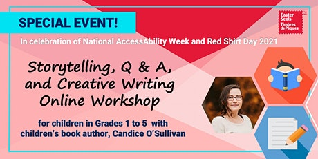 Storytelling, Q & A, and Creative Writing Online Workshop – Grades 1 & 2 tickets