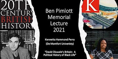 TCBH Ben Pimlott Memorial Lecture 2021: Kennetta Hammond Perry Tickets