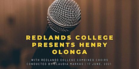 Redlands College presents Henry Olonga tickets