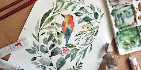 Watercolour Workshop-for beginners-Foliage & Birds tickets
