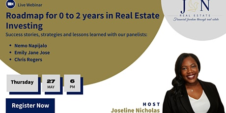 Roadmap for 0 to 2 years in Real Estate Investing! tickets