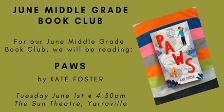 June Middle Grade Book Club - PAWS tickets