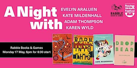 A Night with Evelyn Araluen, Kate Mildenhall, Adam Thompson & Karen Wyld tickets