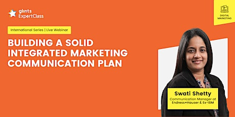GEC International- Building a Solid Integrated Marketing Communication Plan tickets