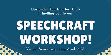 Speechcraft workshop 2021 virtual series tickets
