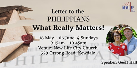 Letter to the Philippians - What Really Matters! tickets