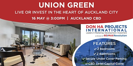 Union Green: Live or Invest in the Heart of Auckland City tickets