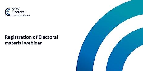 Registration of Electoral Material Webinar tickets