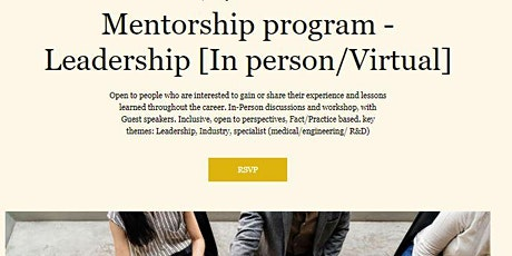 Leadership - Mentorship program - Module 5/26 Strategy, Visions and Values tickets