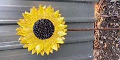Make your own Sunflower garden stake tickets