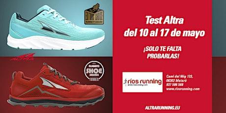 Altra Self Service Test - Ríos Running 2021 entradas