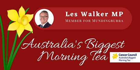 Australia's Biggest Morning Tea with Les Walker MP tickets