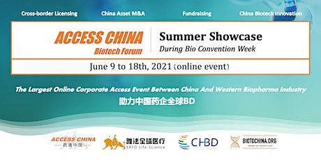 ACCESS CHINA Biotech Forum @ Bio Convention Week 2021 tickets