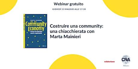 Costruire una community: una chiacchierata con Marta Mainieri biglietti