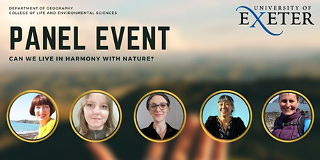 University of Exeter CLES Panel Event: Can we live in harmony with nature? tickets