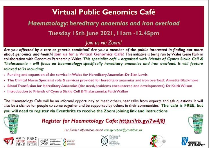 Virtual Public Genomics Café: Haematology image