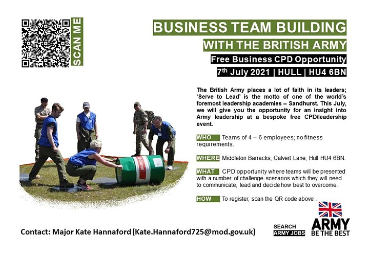 Mini-Stretch Team Challenge for Humberside Businesses with the British Army image