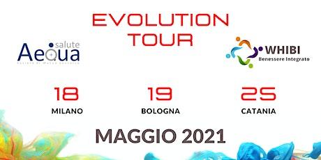 """EVOLUTION TOUR  WHIBI-AEQUA 19 MAGGIO 2021 """"Admiral Park Hotel"""" biglietti"""