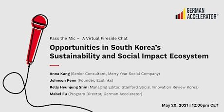 Opportunities in South Korea's Sustainability and Social Impact Ecosystem tickets