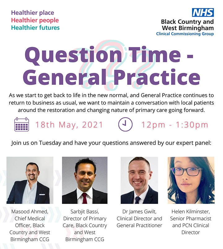 Black Country and West Birmingham Question Time: General Practice image