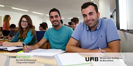 Sesión informativa Online del Grado en Prevención y Seguridad Integral UAB boletos
