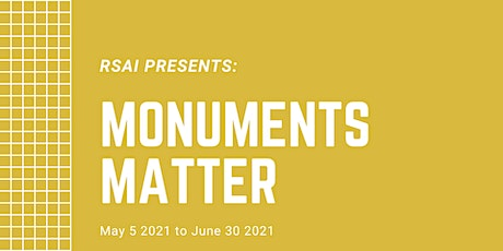 RSAI Monuments Matter Online Series: Panel 2 tickets