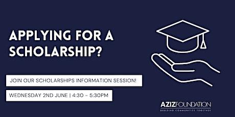Aziz Foundation Scholarships Information Webinar tickets
