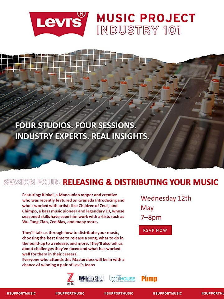 Levi's Industry 101 Masterclass: Releasing and Distributing Your Music image