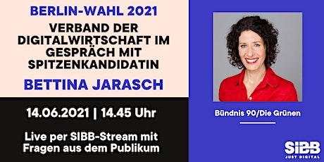 Grüne Spitzenkandidatin Jarasch / virtueller Talk mit Digitalwirtschaft Tickets